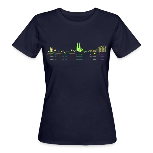 KÖLSCII (PETSCII-Köln-Panorama) - Frauen Bio-T-Shirt