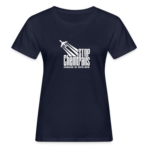 STOP CHEMTRAILS - white print - Vrouwen Bio-T-shirt