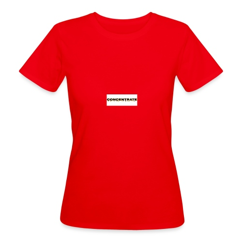 Concentrate on white - Women's Organic T-Shirt