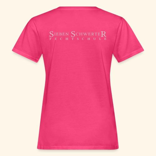 Fechtschule Schriftzug hell - Frauen Bio-T-Shirt