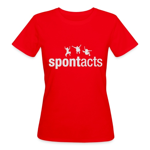 spontacts_Logo_weiss - Frauen Bio-T-Shirt