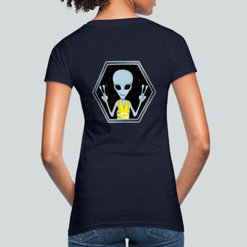 Extraterrestre Gilet jaune - T-shirt bio Femme