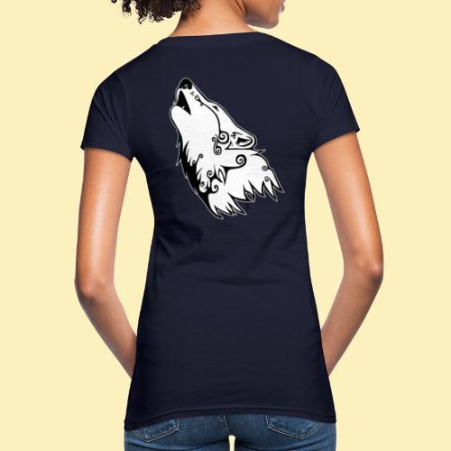 Le Loup de Neved (version contour blanc) - T-shirt bio Femme