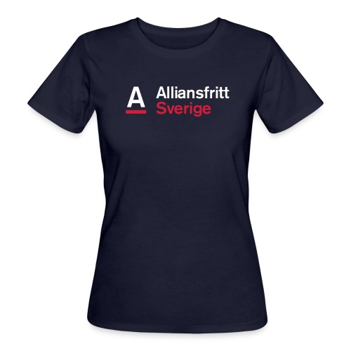 Alliansfritt Sverige Logo 2013 Färg invertera - Ekologisk T-shirt dam