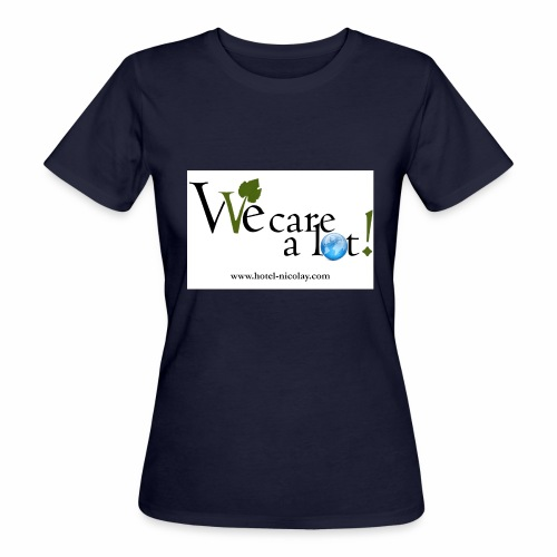 We care a lot jpg - Frauen Bio-T-Shirt