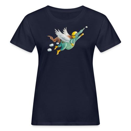 Windpferd mit weißem Logo - KlingBim - Frauen Bio-T-Shirt
