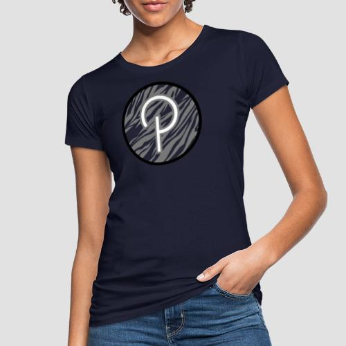 Zebra stripes P logo - Women's Organic T-Shirt