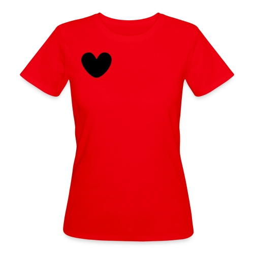fat black heart - Women's Organic T-Shirt