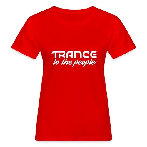 Trance to the People Hvidt Logo - Organic damer