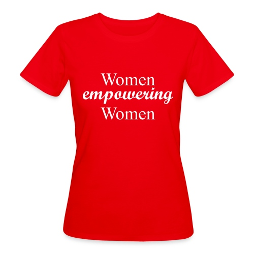 Woman empowering Woman - white text - Ekologisk T-shirt dam