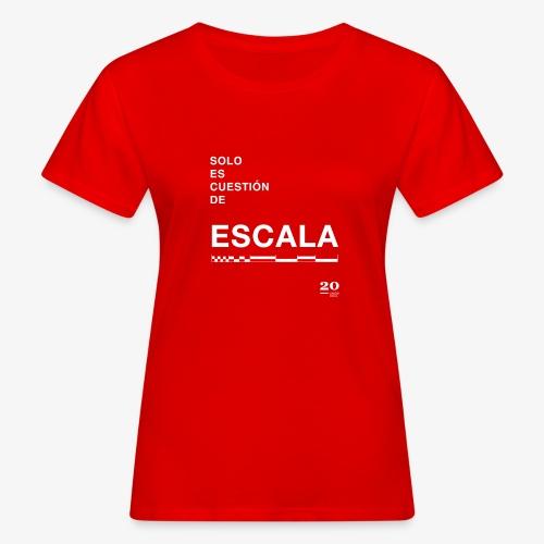 escala - Camiseta ecológica mujer