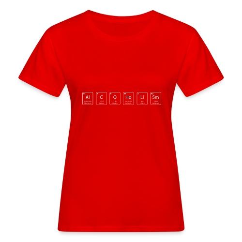 alcoholism nerd shirt - Vrouwen Bio-T-shirt