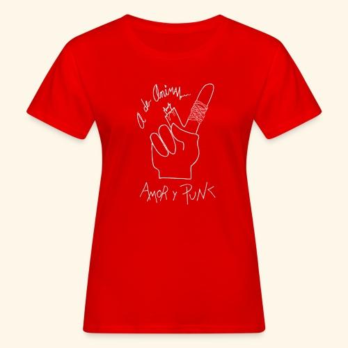 Amor y Punk White - Camiseta ecológica mujer