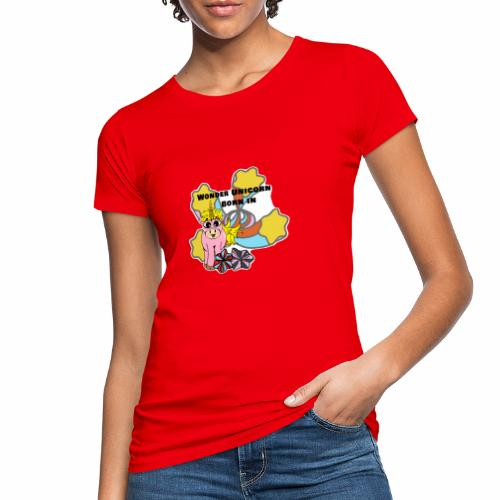 Merveilleuse Licorne née (pour fille) - T-shirt bio Femme