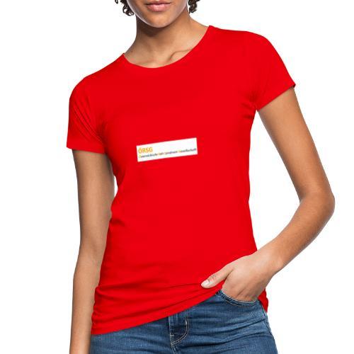 Text-Logo der ÖRSG - Rett Syndrom Österreich - Frauen Bio-T-Shirt