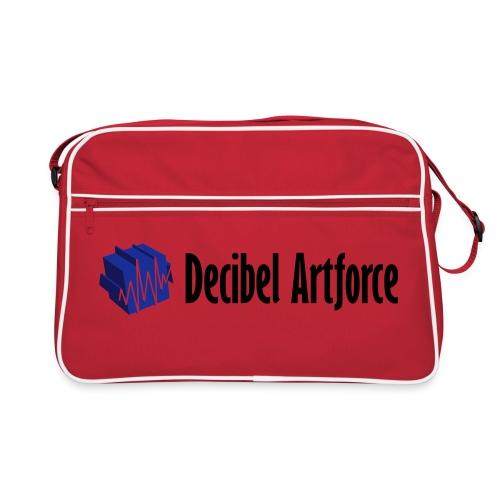 decibelartforce logo 4c vektorisiert - Retro Tasche