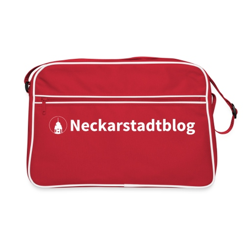 Neckarstadtblog Logo schmal (alternative Farben) - Retro Tasche