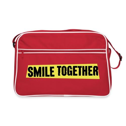 Smile Together Black Yellow - Retro Bag