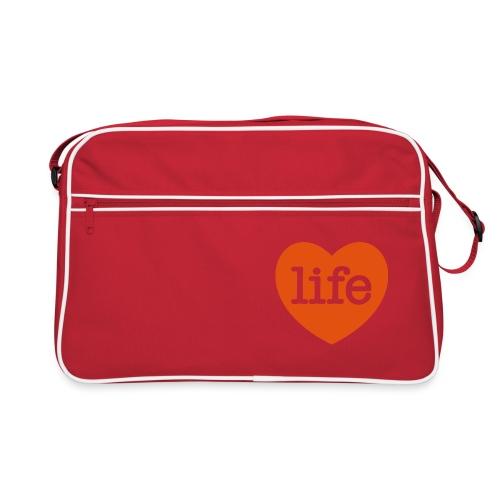 LOVE LIFE heart - Retro Bag