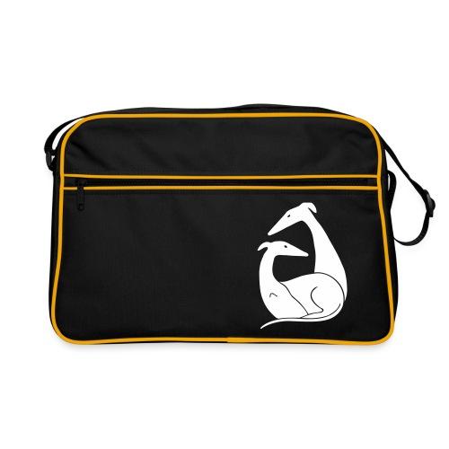 Windhundpaar - Retro Tasche