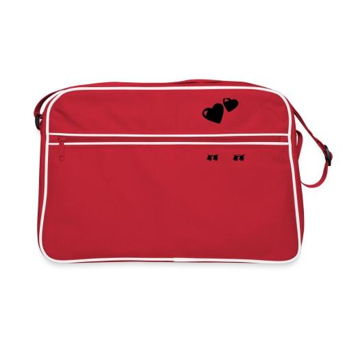 verliebte Eulen - Retro Tasche