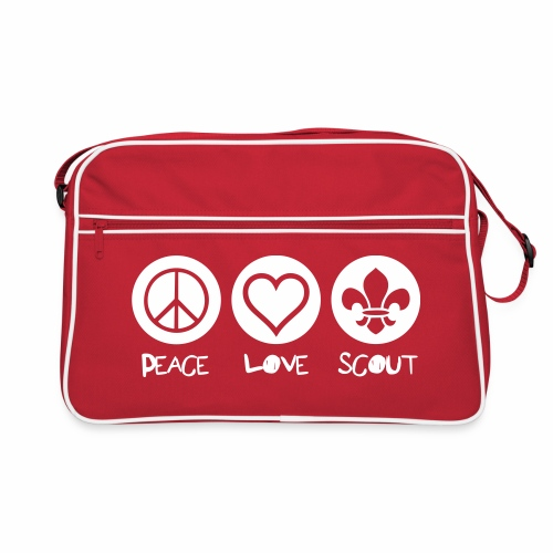 Peace Love Scout - Sac Retro