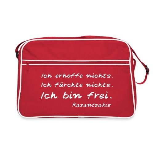 Kazantzakis - Ich bin frei! - Retro Tasche