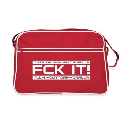 FCK IT! Tulin moottoripyörällä - Retrolaukku