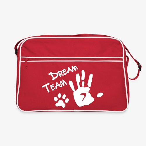 Dream Team Hand Hundpfote - Retro Tasche