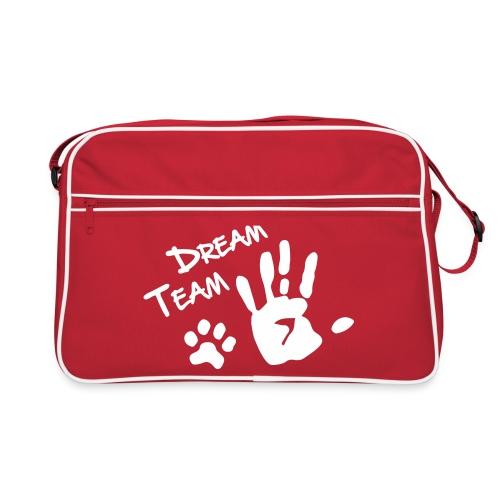 Vorschau: Dream Team Hand Hundpfote - Retro Tasche