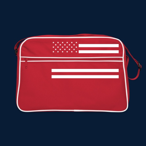 Stars and Stripes White - Retro Tasche