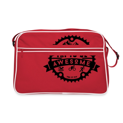 Tri to be Awesome - Kapuzenjacke Männer - Retro Tasche