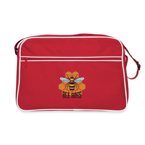 Bee Boss Biene Bienenkönigin Waben - Retro Tasche