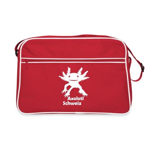 Axolotl weiss - Retro Tasche