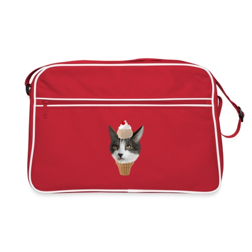 Ice Cream Cat - Retro Tasche