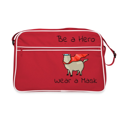 Sei ein Held, trag eine Maske - fight COVID-19 - Retro Tasche