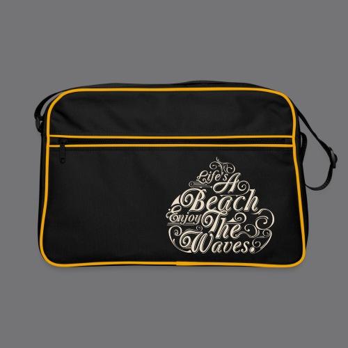 LIFE A BEACH ENJOY THE WAVES Tee Shirts - Retro Bag