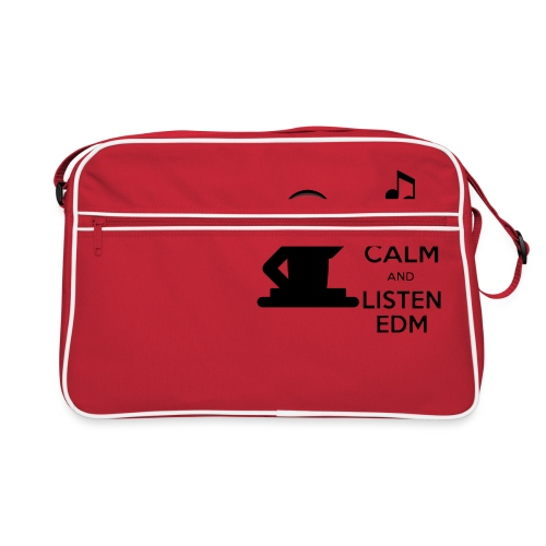 keep calm and listen edm - Retro Bag