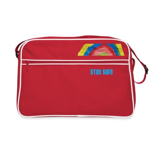 Stay Safe Rainbow Tshirt - Retro Bag