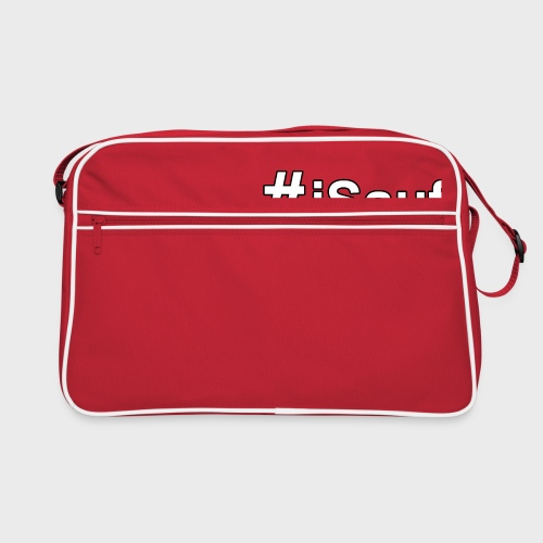 Hashtag iSauf klein - Retro Tasche