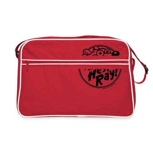 Hey Ray Logo black - Retro Tasche