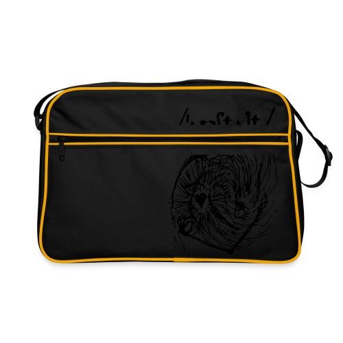 logo mit wesen (schwarz) - Retro Tasche