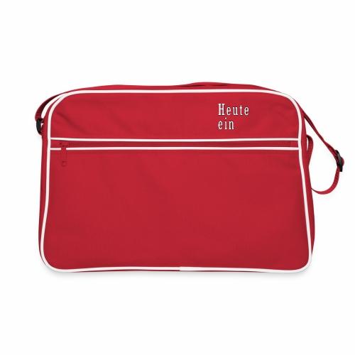 heute ein eber - Retro Tasche