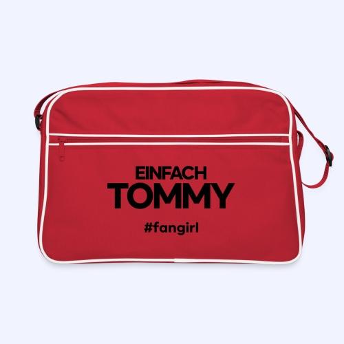 Einfach Tommy / #fangirl / Black Font - Retro Tasche