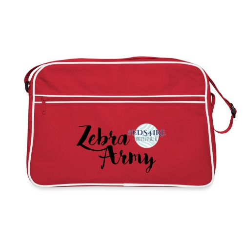 Zebra Army (black) - Retro Bag