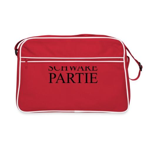 schwarePartie png - Retro Tasche