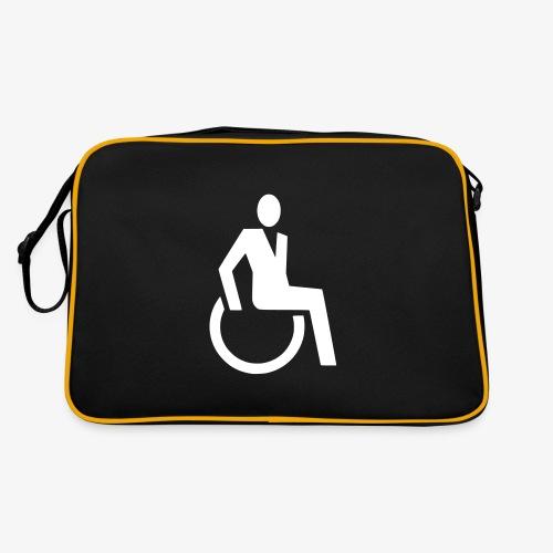 Sjieke rolstoel gebruiker symbool - Retro-tas