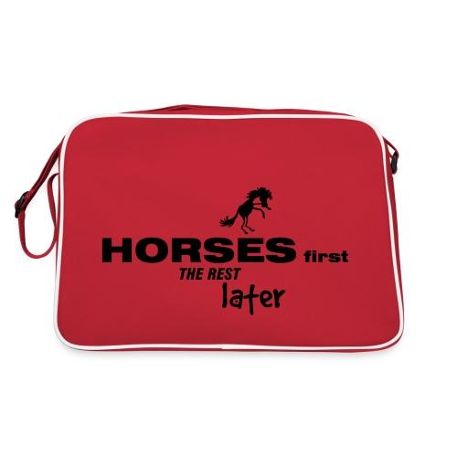 horsesfirst2 - Retro Tasche