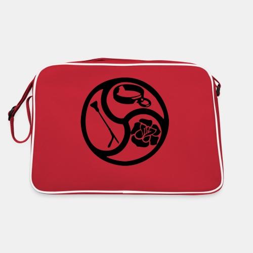 Triskele triskelion BDSM Emblem HiRes 1 color - Retro Tasche