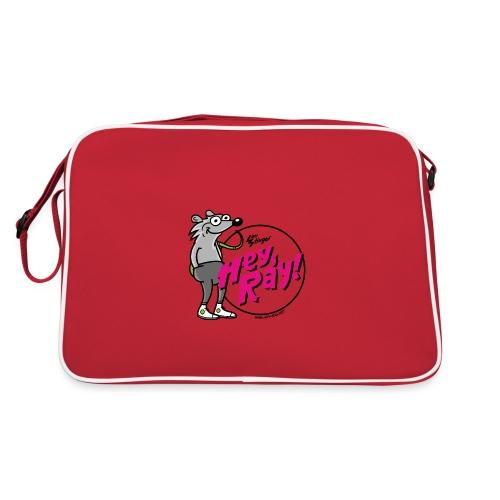 Hey Ray! Logo magenta - Retro Tasche